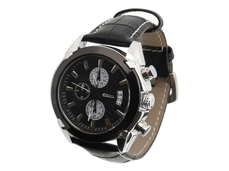 3342935e85f Hodinky CATTARA CHRONO BLACK Compass bez potlače