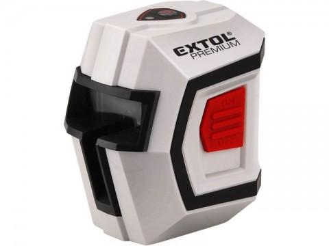 Laser liniový, křížový samonivelační 1H1V, přesnost 0,5mm/m, rozsah l.: 10m, EXTOL PREMIUM