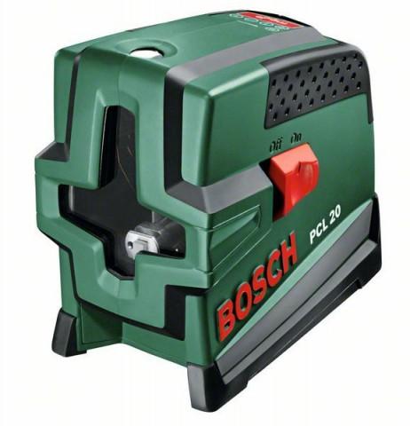 Samonivelační křížový laser Bosch PCL 20 + ochranné pouzdro, 0603008220