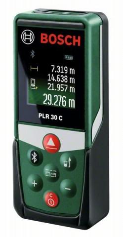 Digitální laserový dálkoměr Bosch PLR 30 C + ochranné pouzdro, 0603672120