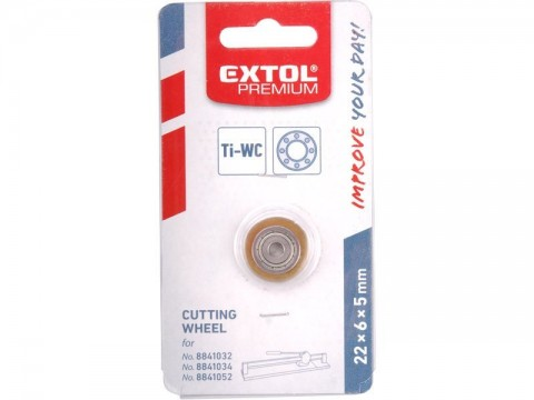 Kolečko řezací ložiskové, 22x6x5mm, pro přesnější a snadnější řezání, EXTOL PREMIUM