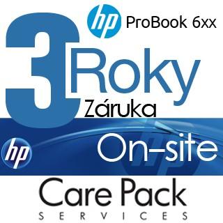 HP Rozšírenie záruky na 3 roky On-site ProBook 6xx