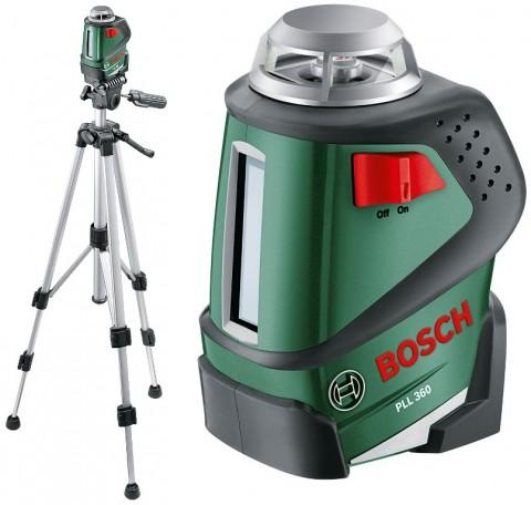 BOSCH SET Samonivelačný 360° líniový laser PLL 360