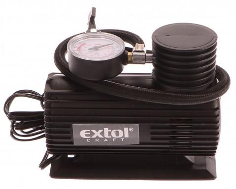 Kompresor mini 12V, 250PSI/1,7MPa, manometr,  kabel 3m, 252 EXTOL-CRAFT
