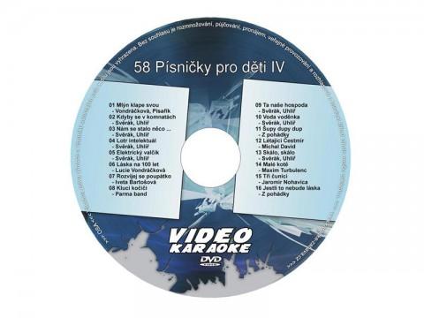 Karaoke DVD Pesničky pre deti IV