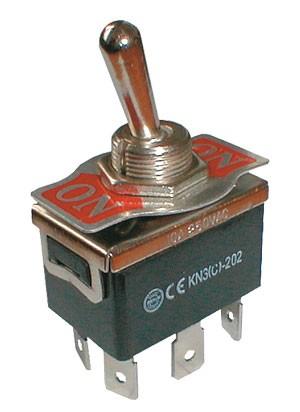 Prepínač páčkový  2pol./6pin  ON-ON 250V/10A