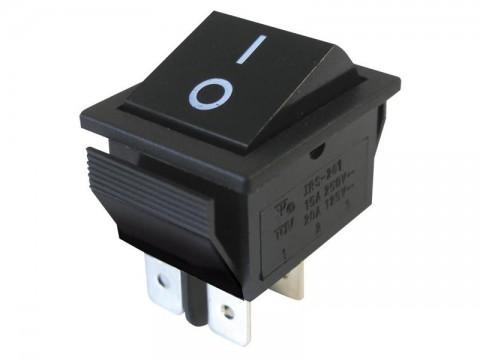 Prepínač kolískový   2pol./4pin  ON-OFF 250V/15A čierny