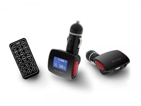 Transmitter do auta FM BLOW USB SD/MMC RED