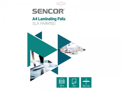 Fólie laminovacie SENCOR SLA FA4M150 A4 150mic 25ks