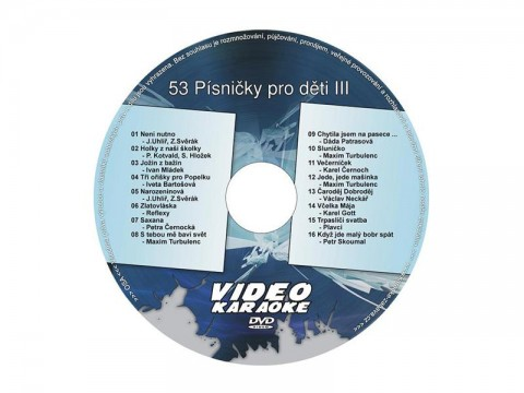 Karaoke DVD Pesničky pre deti III