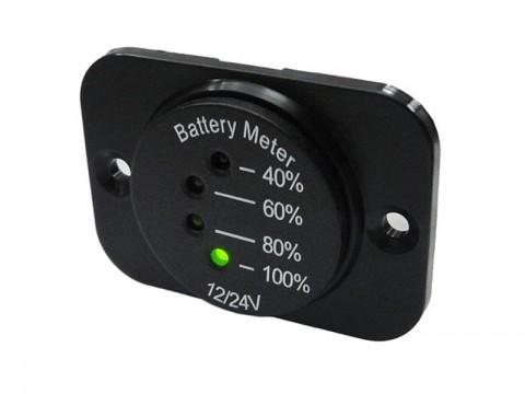 Panelové meradlo DV34542 indikátor batérie 12-24V vrátane panelu