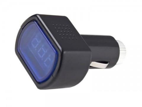 Voltmeter do auta HADEX R001 montáž do autozdířky
