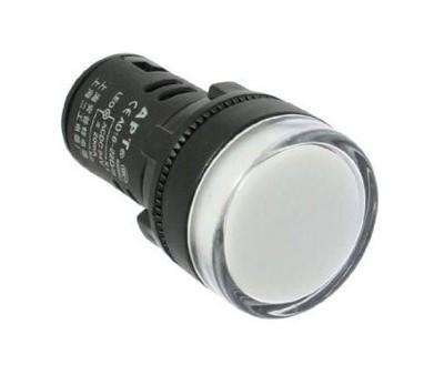 Kontrolka guľatá 230V LED biela 29mm HADEX