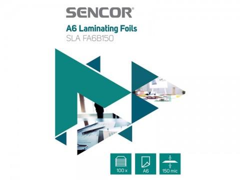 Fólie laminovacie SENCOR SLA FA6B150 A6 150mic 100ks