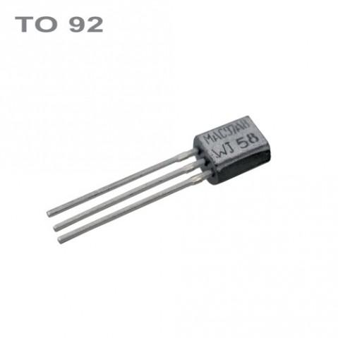 Triak MAC97A8 600V 0.6A Igt/Ih 7/10mA TO-92