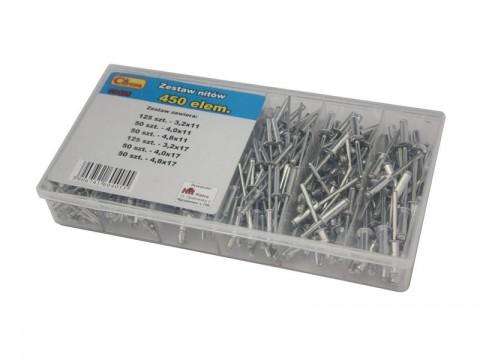 Sada nitov hliníkových AVOSS P0406 450ks
