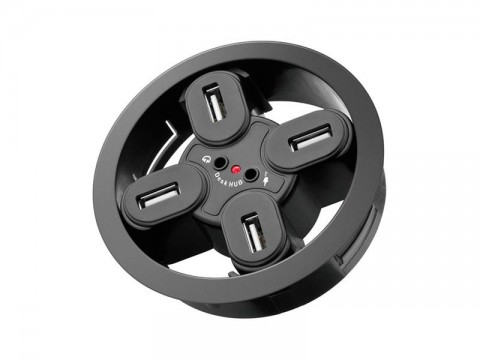 Redukcia USB hub 4 port GOOBAY 2x3,5 mm audio jack,k zapusteniu do dosky