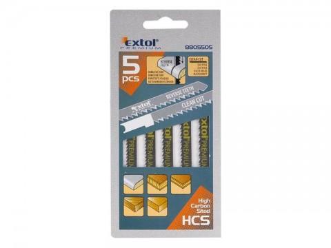 Plátky do priamočiarej píly 5ks 75x2,5mm EXTOL PREMIUM 8805505