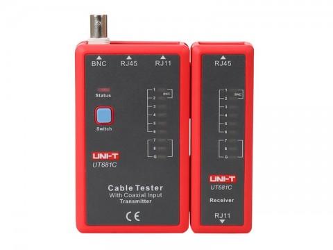 Tester kabelu UNI-T UT681C  (RJ45, RJ11, BNC)