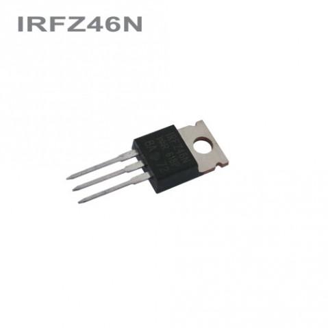 Tranzistor IRFZ46N   MOS-FET 55V, 53A, 120W (TO-220AB)