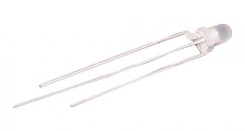 LED  3mm  dvoubarevná R/G  3pin  bílá - matná
