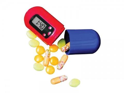 Zásobník na lieky PB01 s časovačom a alarmom