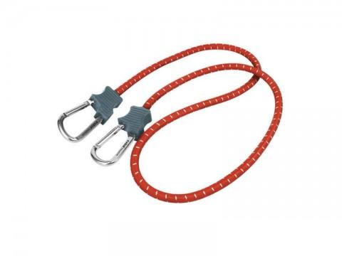 Popruhy elastické s karabínami, 10mmx120cm, kovová karabína EXTOL PREMIUM