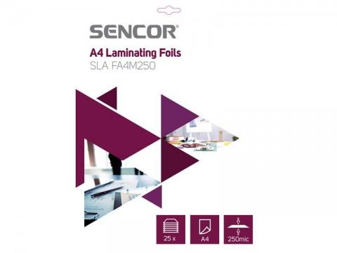 Fólia laminovacia SENCOR SLA FA4M250 A4 250mic 25ks