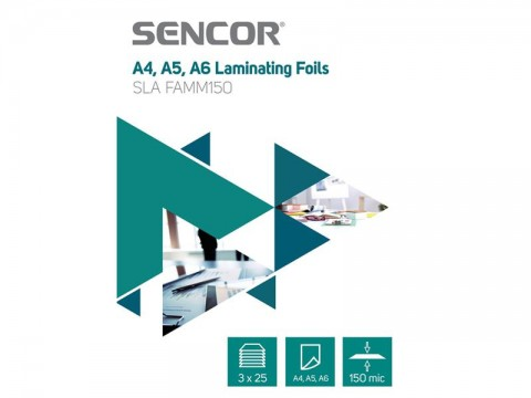 Fólie laminovacie SENCOR SLA FAMM150 A4 150mic 75ks