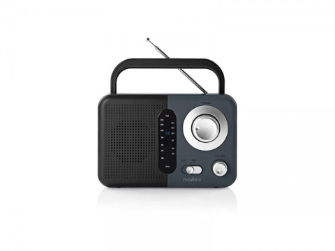 Rádio NEDIS RDFM1300GY BLACK/GREY