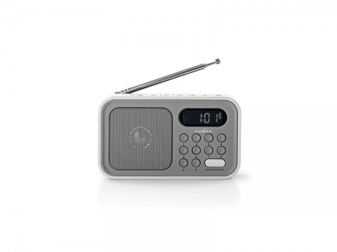 Rádio NEDIS RDFM2200WT GREY/WHITE