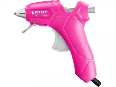 Pistole tavná lepící, Ř7,2mm, 25W, růžová EXTOL-LADY