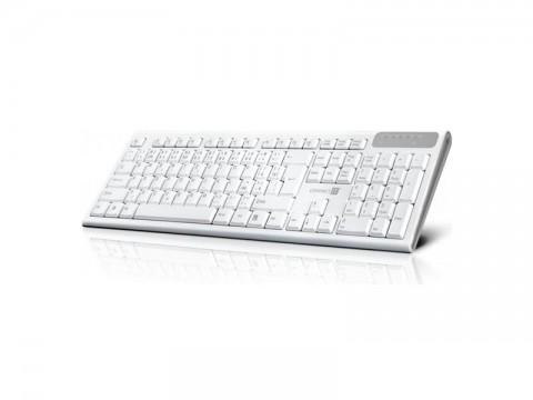 1d306a718 Klávesnice CONNECT IT Multimediální bezdrátová, CZ + SK verze, bílá  CKB-3010- ...