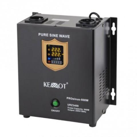 Zdroj záložný KEMOT PROsinus 500W 12V nástenný