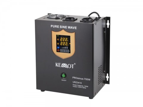 Zdroj záložný KEMOT PROsinus 700W 12V nástenný