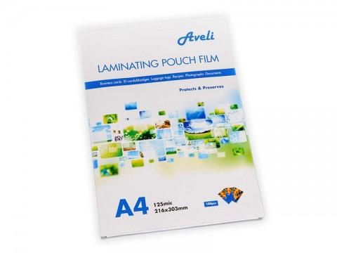Fólie laminovacie AVELI A4 / 250 mic (2x 125) lesklé