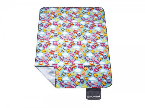 Piknik deka s popruhom SPOKEY PICNIC OWL 180x210 cm