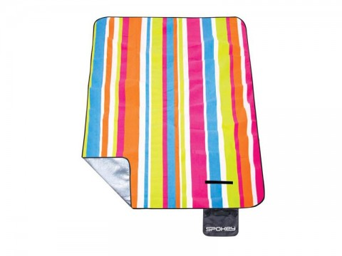 Piknik deka s popruhom SPOKEY PICNIC RAINBOW 180x210 cm