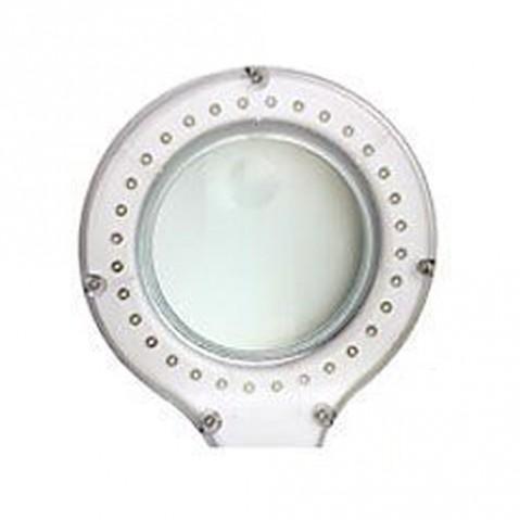 Lupa stolní kulatá  malá 3+8diop. LED(32x) bílá
