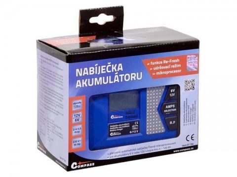 Nabíjačka akumulátorov COMPASS 07154 PROFI 6/12V