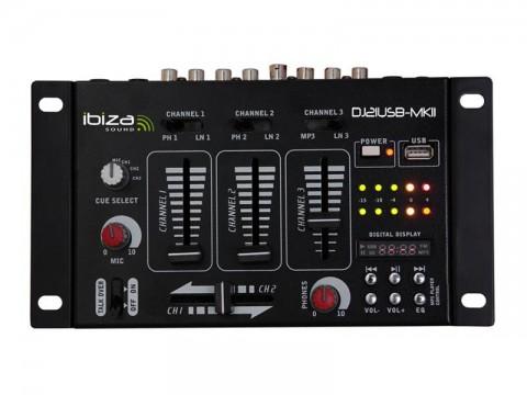 Pult mixážny IBIZA DJ21USB-MKII