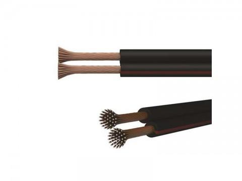 Dvojlinka netienená ECO 2x0,5mm čierno/ červená, 100m