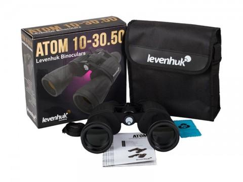 Ďalekohľad binokulárny LEVENHUK ATOM 10-30x50