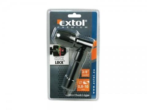 Nadstavec pravouhlý na vŕtačku s rýchloupínacím skľúčovadlom 0,8-10mm EXTOL CRAFT