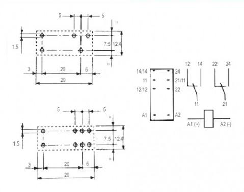 Relé 24V 10A/250VAC  1x přep.  RELEF4031-24