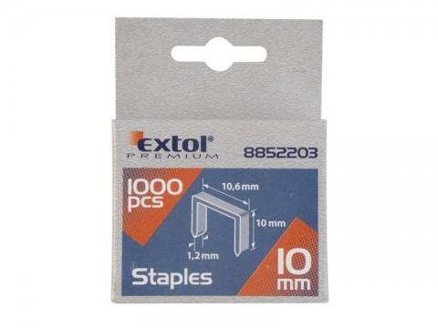 Spony, balenie 1000ks, 6mm, 10,6x0,52x1,2mm, EXTOL PREMIUM