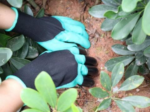 Rukavice záhradné s pazúry 4L