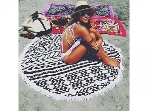 Osuška plážová - mandala GEOMETRY