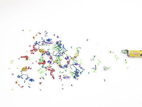 Efekt Party vystřelovač konfet 20cm