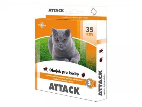 Obojok pre mačky STACHEMA ATTACK antiparazitné 35 cm
